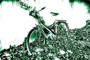 de groene fiets van