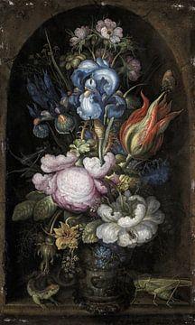 Blumenstrauß in einer steinernen Nische, Roelant Savery