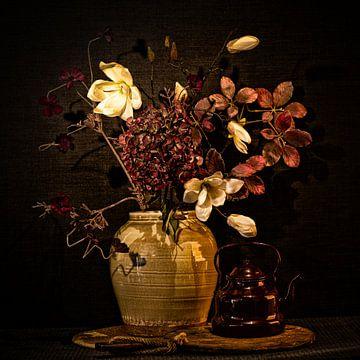 stilleven bloemen hortensia magnolia van Carina Meijer ÇaVa Fotografie