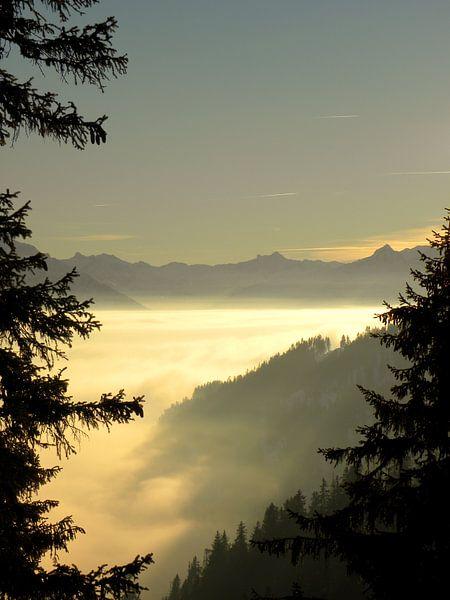 Uitzicht vanaf Howald, Zwitserland van Dirk Jan Kralt