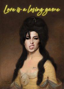 Amy Winehouse digitales Gemälde