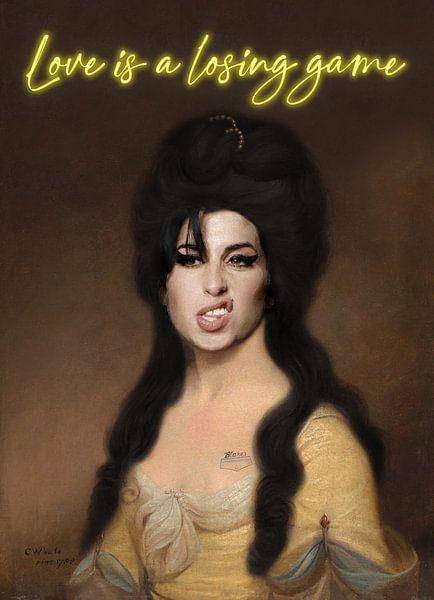 Amy Winehouse digitales Gemälde von Rene Ladenius Digital Art