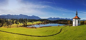 Het Hegratsried meer in de Allgäu van Frank Herrmann