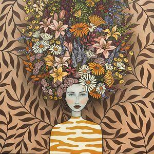 Bloemen in mijn gedachte (nr.2021-08) van Kris Stuurop