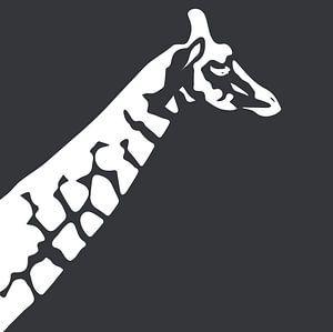 Giraffe mit Dunkelgrün