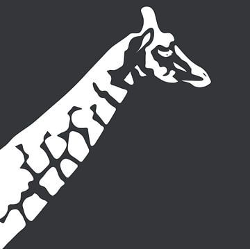 Giraffe mit Dunkelgrün von Anne Dellaert