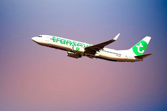 Boeing 737-800, Transavia PH-HSC, take off Schiphol