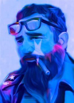 Fidel Castro Pop Art PUR van Felix von Altersheim