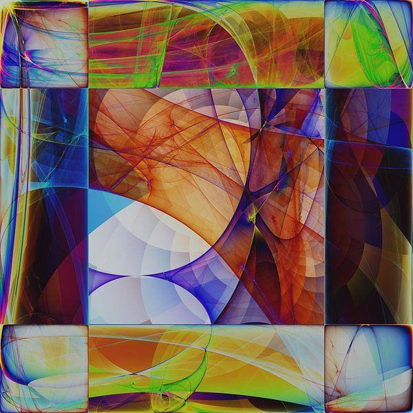 Composition abstraite 478 van Angel Estevez
