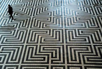 mozaïek vloer van Anita van Gendt