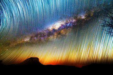 Melkweg en startrails von Dennis van de Water