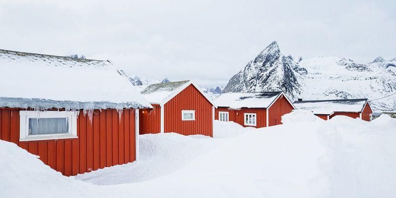 De vissershuisjes van Hamnøy, Lofoten van Nando Harmsen