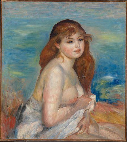 Pierre-Auguste Renoir. Badende vrouw, 1872 van 1000 Schilderijen
