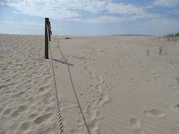 Duinen aan de kust van Polen bij Leba. van Leo Quartel