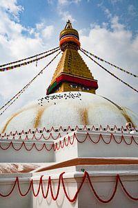 Bouddhanath stoepa kathmandoe nepal Boedhisme van