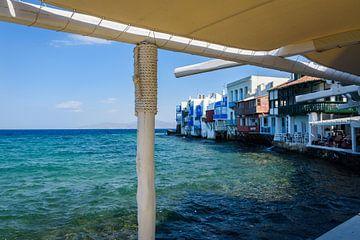 Kust van Klein Venetië, Mykonos, Griekenland van