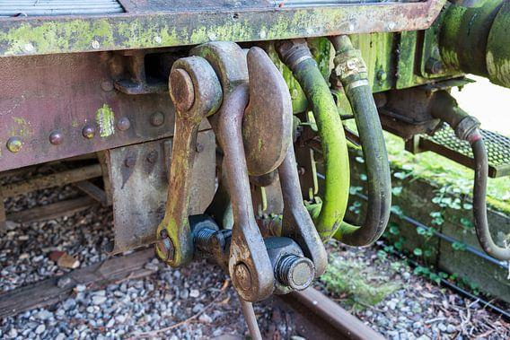 oude treinwagon op een oud station in hombourg