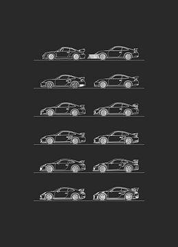 Porsche 911 GT2 - GT3 Evolutie van Artlines Design