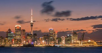 Sunset Auckland, Neuseeland von Henk Meijer Photography