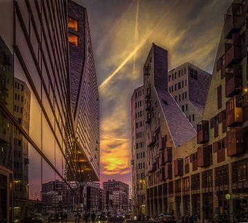 Amsterdam Cityscape van Mario Calma