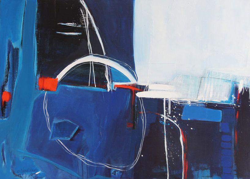 Samenstelling in blauw van Claudia Neubauer
