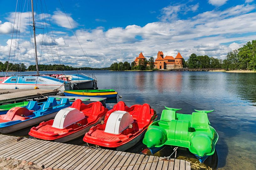 Trakai Island Castle, Lithuania van Gunter Kirsch