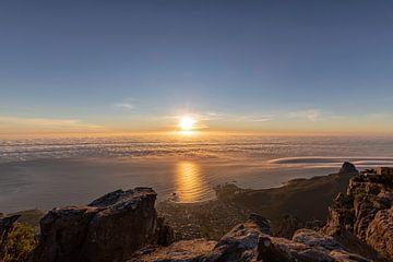 La mer au Cap au coucher du soleil sur Dennis Eckert
