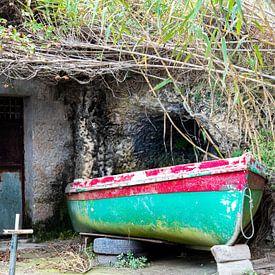 Photo sobre avec un bateau sobre et coloré sur Bianca ter Riet
