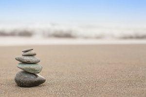 In evenwicht brengende gestapelde stenen