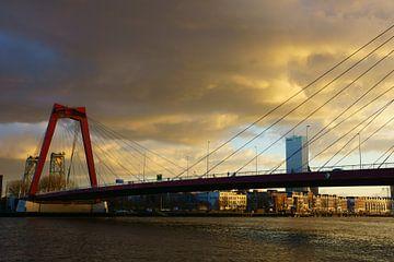 Willemsbrug Rotterdam von Michel van Kooten