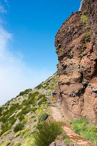 bl;ue sky on the pico arieiro on madeira island