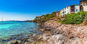 Prachtig kustgezicht van Calvia, Spanje eiland Mallorca van Alex Winter