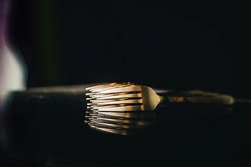 Compositie van vorken - backside van Angelique van Kreij