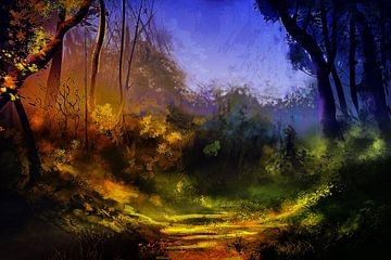 Magischer Ort im Wald von ellenilli .