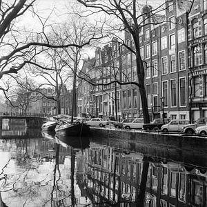 De grachten van Amsterdam in de jaren zestig. van