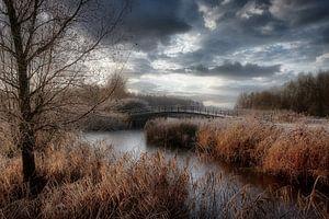 hollandslandschap met wolken. van Robert Jan Smit