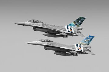Belgische F-16 Fighting Falcons Farbausschnitt von Marc Hederik