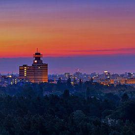 Berlin Skyline im Sonnenaufgang von Frank Herrmann