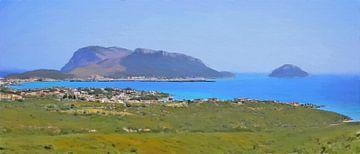 Sardinië - Golfo Aranci en Capo Figare - Panorama - Italië - Schilderij
