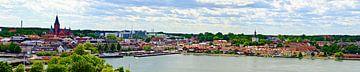 Uitzicht over Västervik van Leopold Brix