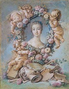 Madame de Pompadour, François Boucher, 1754 (Pastell)
