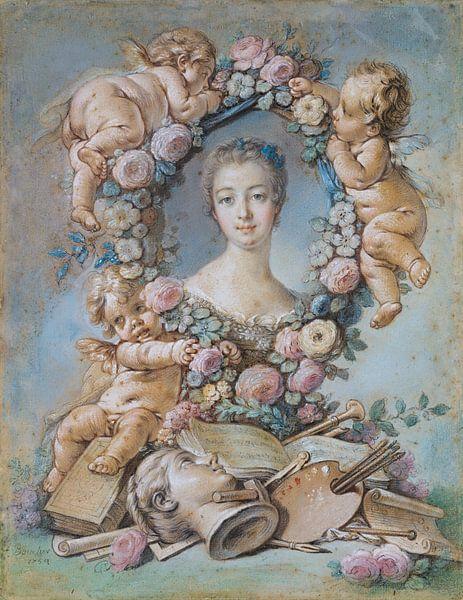 Madame de Pompadour, François Boucher, 1754 (Pastell) von Atelier Liesjes