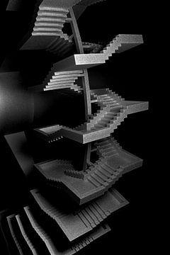 Tredenmolen zwart-wit van Jörg Hausmann