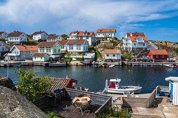 Blick auf den Ort Gullholmen in Schweden von Rico Ködder