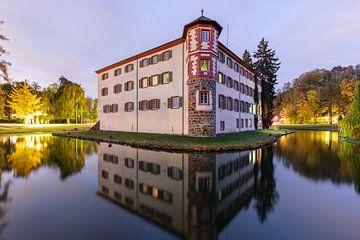Wasserschloss Eichtersheim am Abend von Uwe Ulrich Grün