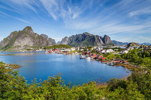 Schilderachtig Lofoten Reine in Noorwegen