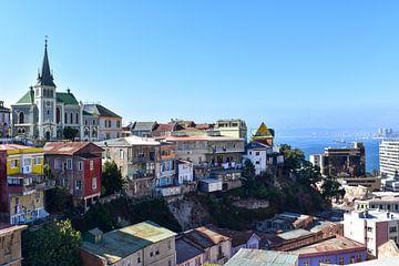 Stadtbild Valparaiso von Oscar Leemhuis