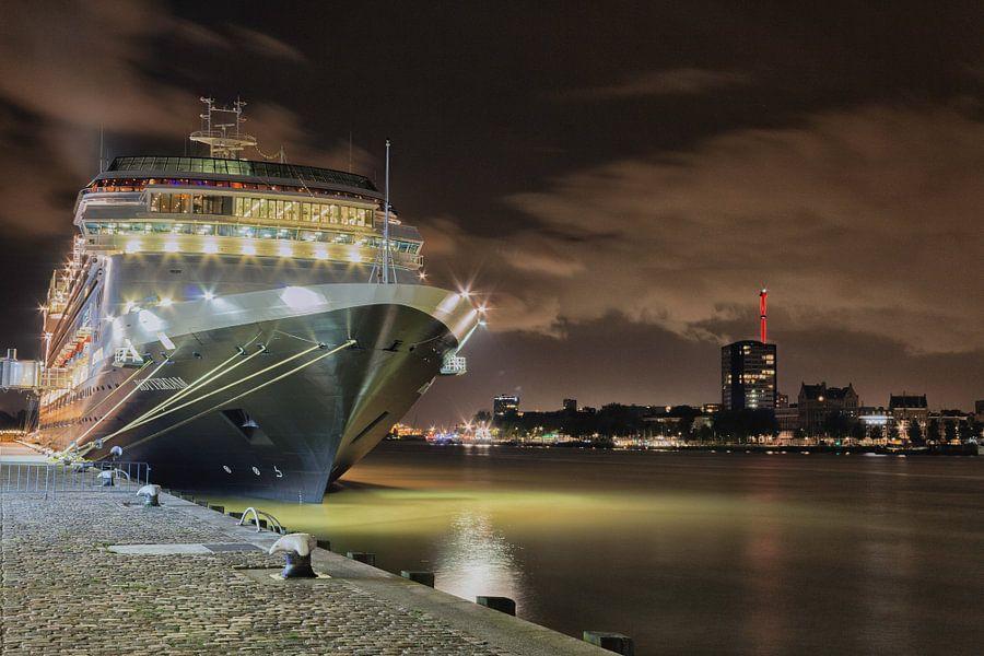Cruiseschip in Rotterdam van Kevin Nugter