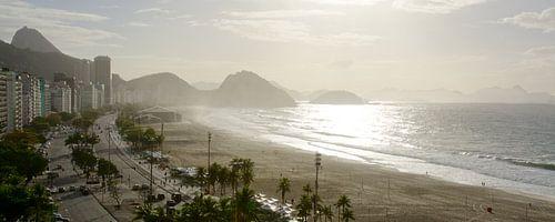 Panorama uitzicht over Copacabana in Rio de Janeiro