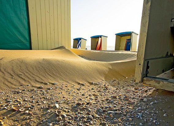strand cabines  van Dirk van Egmond